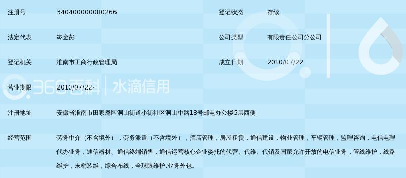 安徽皖信人力资源管理有限公司淮南分公司