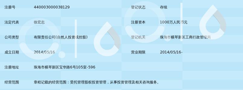 珠海横琴金帝道恒股权投资基金管理有限公司_