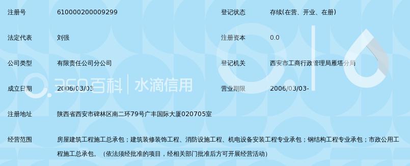 南通四建集团有限公司陕西分公司